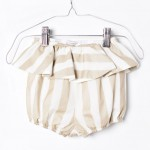 ● スペインから Motoreta モトレタ 17ss XEREZ BB SHORT White & golden stripes 12M/24M