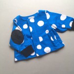 [再下 50%OFF]frankygrow フランキーグロウ 4PATTERNS SWEAT JACKET BLUE*WHITE DOTS S/M/-