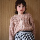 フランスから Le Petit Germain MILOU Cardigan MIXED BROWN 2Y/4Y/6Y