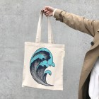 From Denmark soft gallery Tote bag in organic cotton with wave print 38 x 40cm [※1 クリックポスト可]