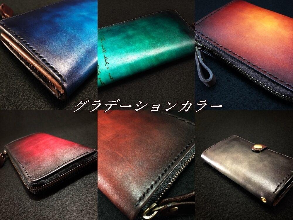 青のクラッチバッグ、長財布、半財布